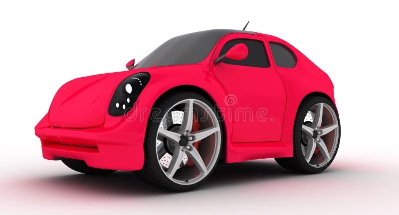 samochodu mały różowy zdjęcia stock