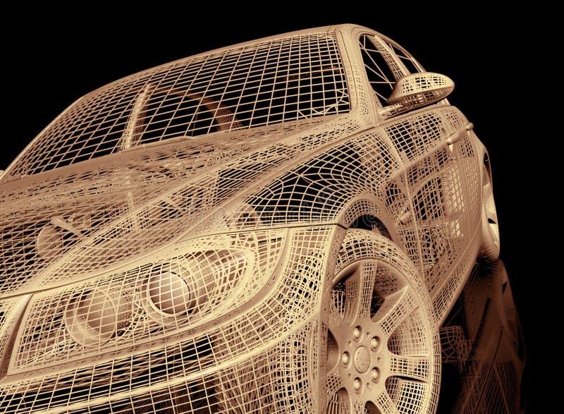 Samochodu model na czarnym tle ilustracja wektor