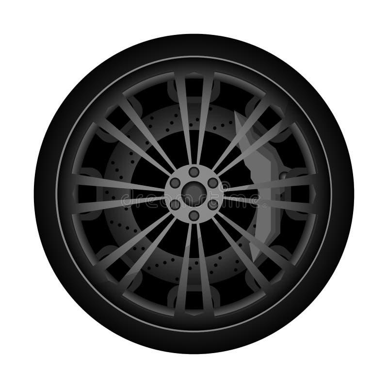 Samochodu obręcza titanium ikona royalty ilustracja