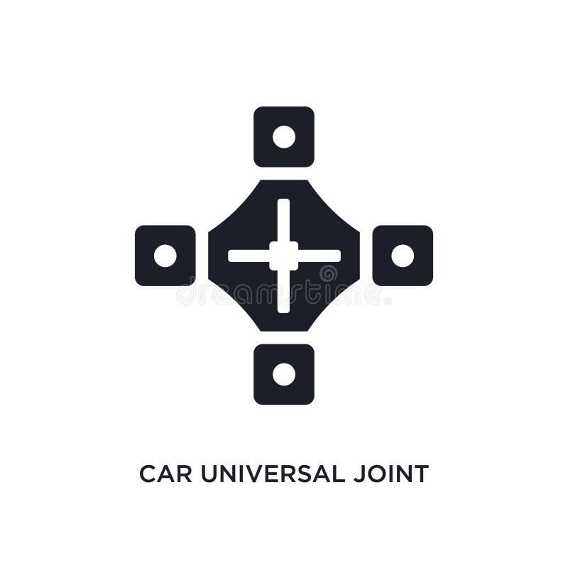 samochodu ogólnoludzkiego złącza odosobniona ikona prosta element ilustracja od samochodu rozdziela pojęcie ikony samochodu ogóln royalty ilustracja
