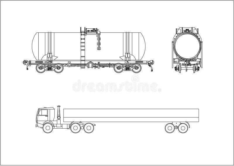 samochodu poręcza wektoru furgon ilustracji