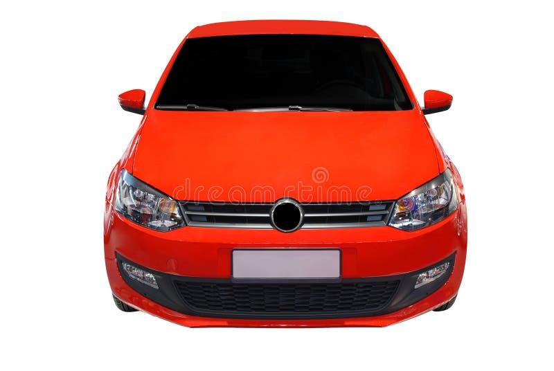 samochodu przodu odosobniony czerwony widok obraz royalty free