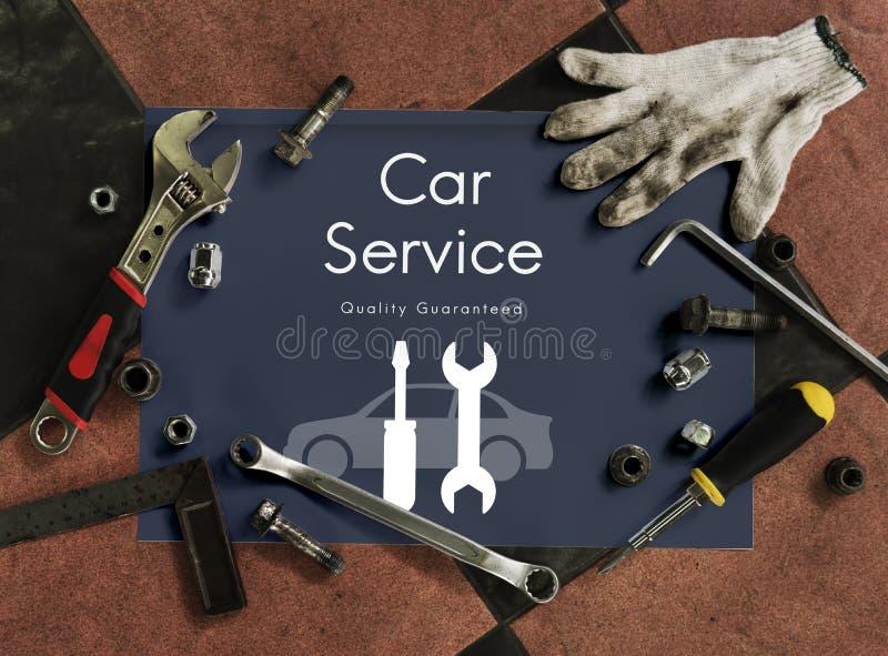 Samochodu Samochodowego mechanika usługa utrzymania pojęcie fotografia royalty free