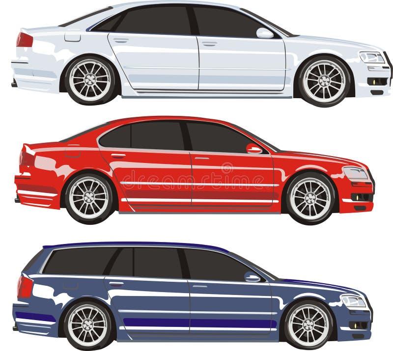 samochodu set royalty ilustracja