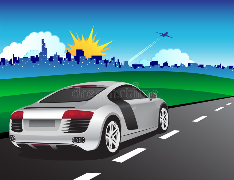 samochodu srebro ilustracji