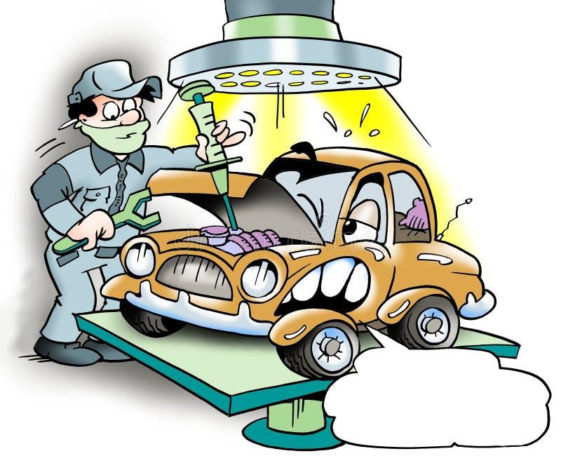 Samochodu ważny przegląd ilustracja wektor