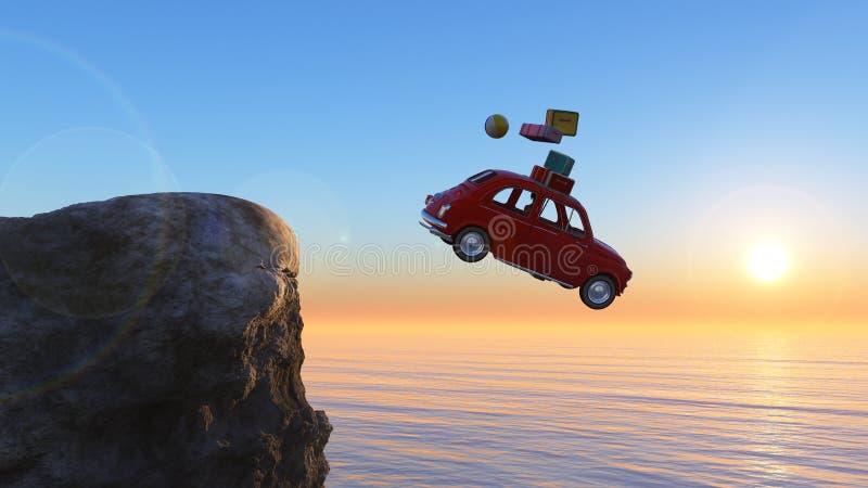 samochodu wiec ilustracji