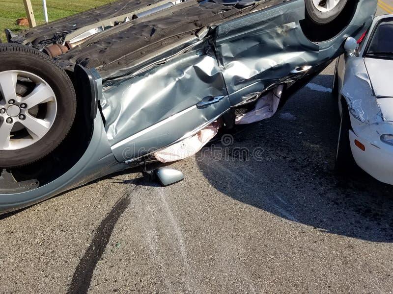Samochodu wypadek samochodowy, karambol, ubezpieczenie zdjęcia royalty free