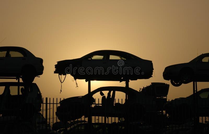 samochody cmentarniani obraz royalty free