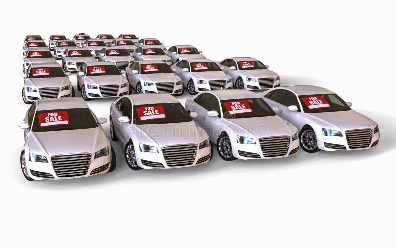 Samochody dla sprzedaży ilustracji
