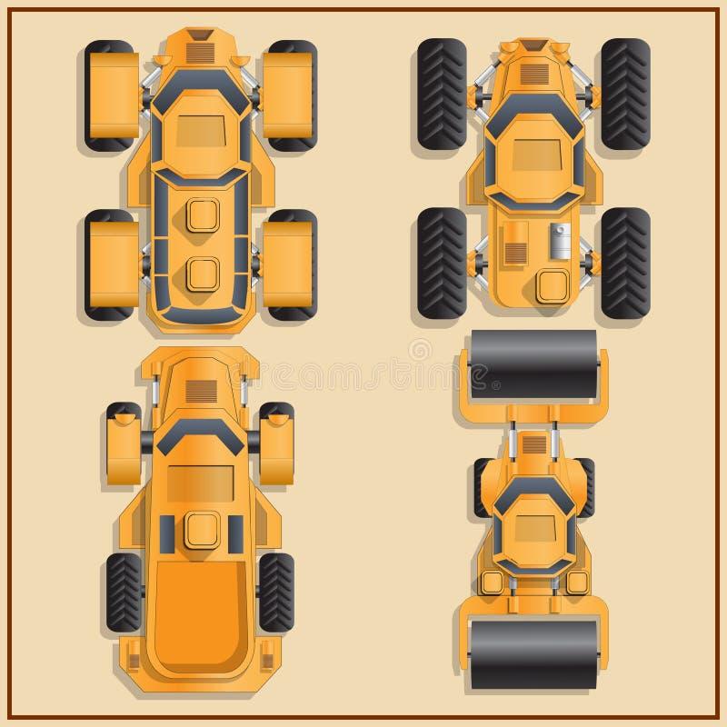 Samochody futurystyczne ilustracji