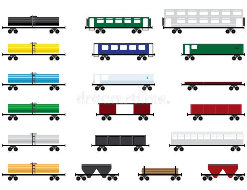 samochody kolejowi ilustracji
