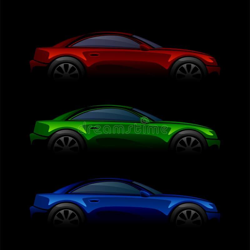 samochody kolorowi ilustracja wektor