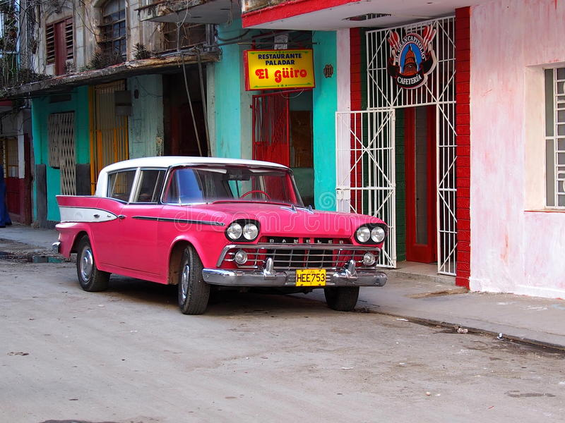 Samochody Kuba obrazy royalty free