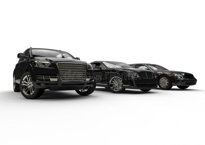 samochody luksusowi royalty ilustracja