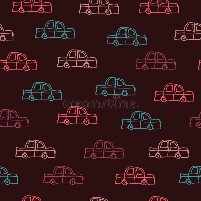 Samochody na brown tle ilustracji