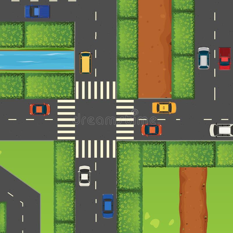 Download Samochody Przyskrzyniają Drogowego Ruch Drogowy Ilustracja Wektor - Ilustracja złożonej z klamerka, biały: 57657192