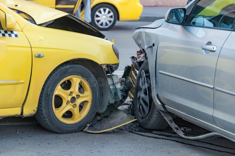 samochody rozbijali dwa obraz royalty free