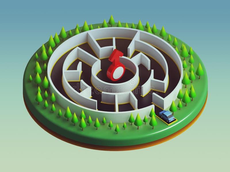 Download Samochody Są Wokoło Wchodzić Do Labirynt Ilustracji - Ilustracja złożonej z samolot, plenerowy: 57667338
