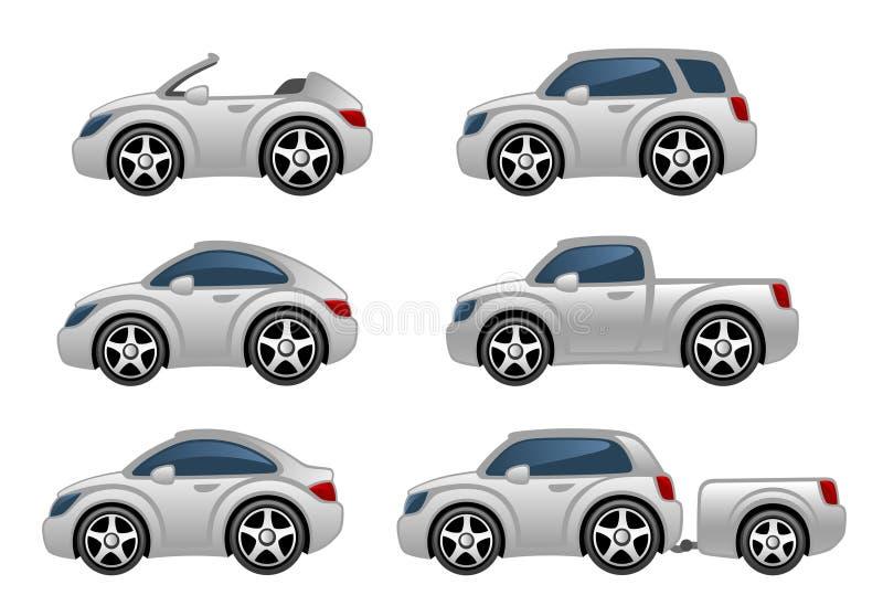 samochody ustawiają ilustracji