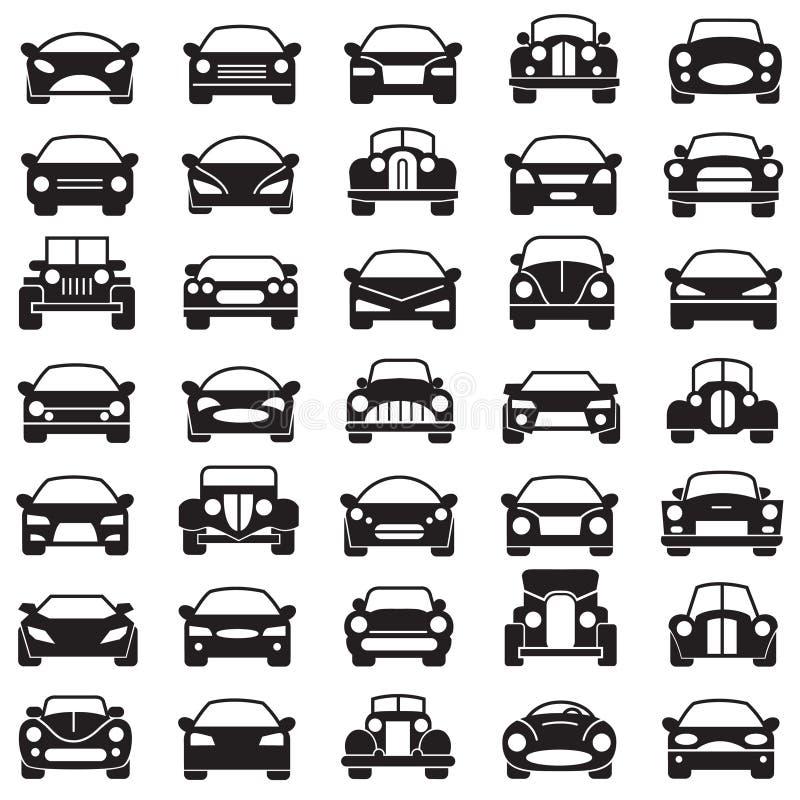 samochody ustawiający royalty ilustracja