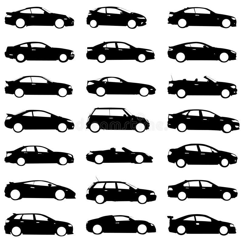 samochody ustawiający wektor ilustracji