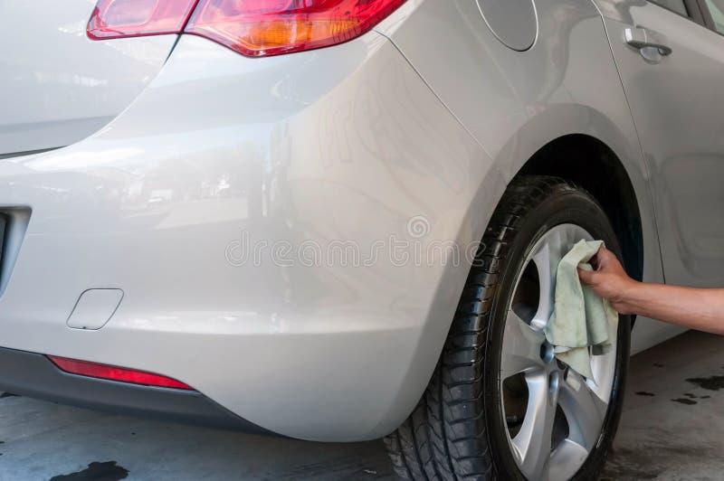 Samochody w carwash fotografia stock