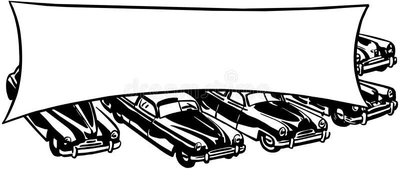 Samochody Z sztandarem ilustracji