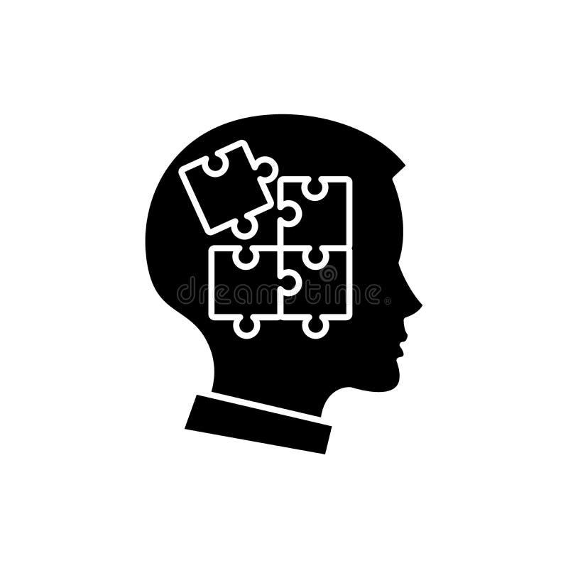 Samodyscyplina czarna ikona, wektoru znak na odosobnionym tle Samodyscyplina pojęcia symbol, ilustracja ilustracji