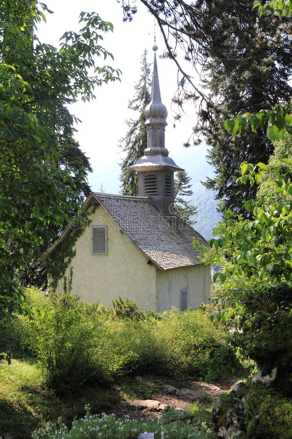 Samoens in the French Alps. Magnifient village in the Alps, Haute-Savoie royalty free stock images