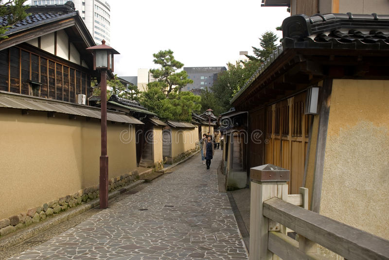Samoeraienkwart, Kanazawa, Japan royalty-vrije stock afbeelding