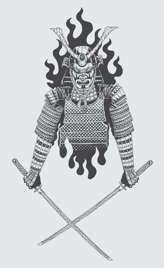 Samoeraienstrijder stock illustratie