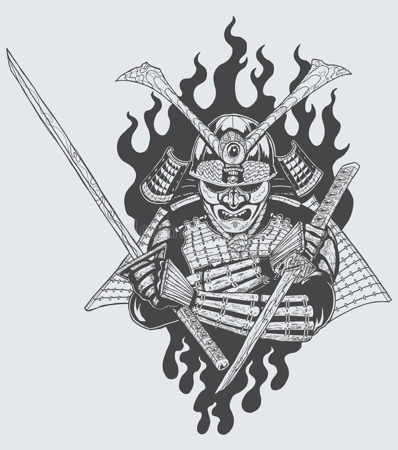 Samoeraienstrijder vector illustratie