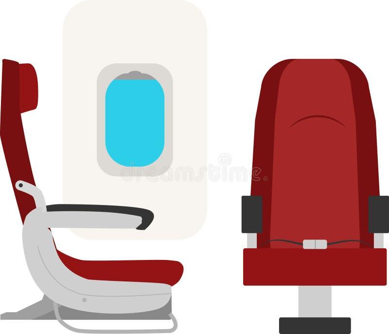 Samolotów siedzenia ilustracja wektor