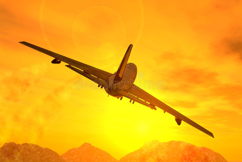 samolot. ilustracji
