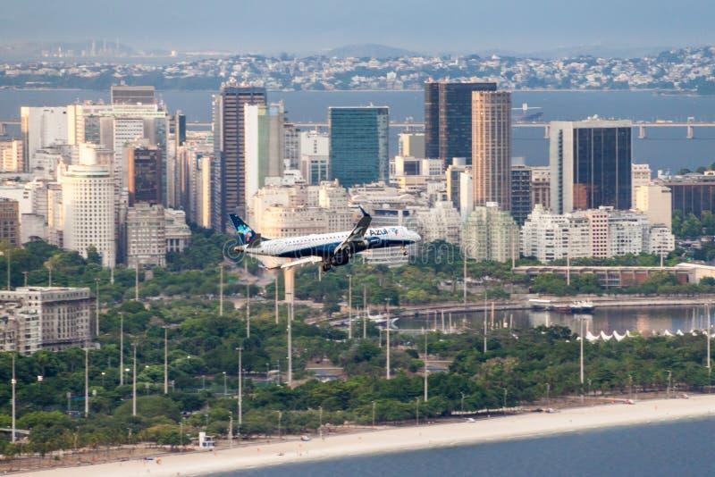 Samolot Azul linie lotnicze fotografia royalty free