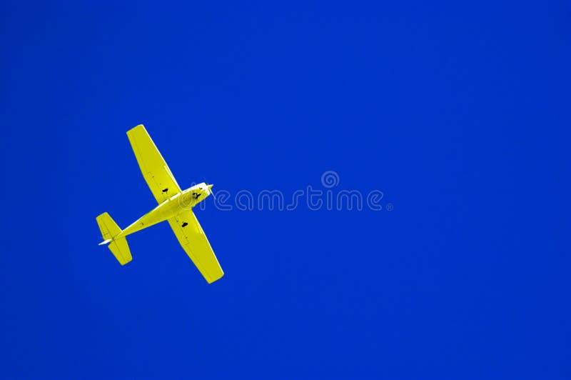 samolot błękitne niebo żółty zdjęcie stock