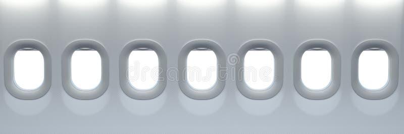 samolot być wizerunek usuwającego widok okno Podróży i turystyki fliight pojęcie Przestrzeń dla teksta royalty ilustracja
