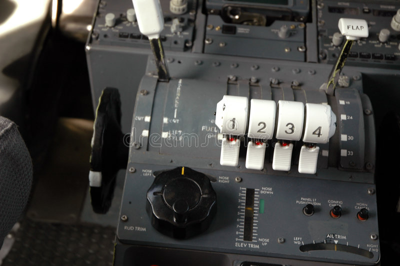 samolot cockpit5 obraz stock