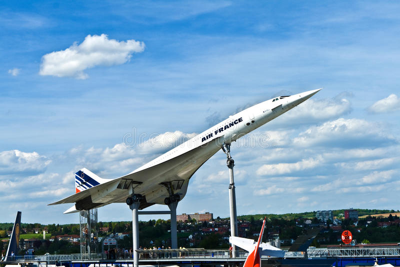 Samolot Concorde w muzeum w Sinsheim zdjęcia royalty free