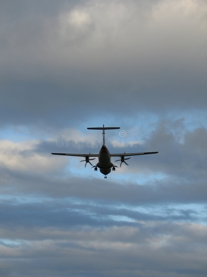 Samolot Do Lądowania Obraz Stock