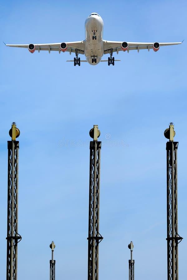 samolot do portów lotniczych obraz stock