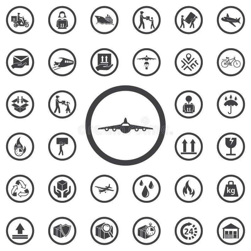 Samolot frontowa ikona ilustracja wektor