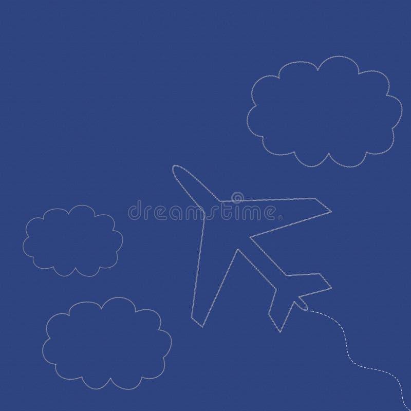 Samolot i chmury ilustracji