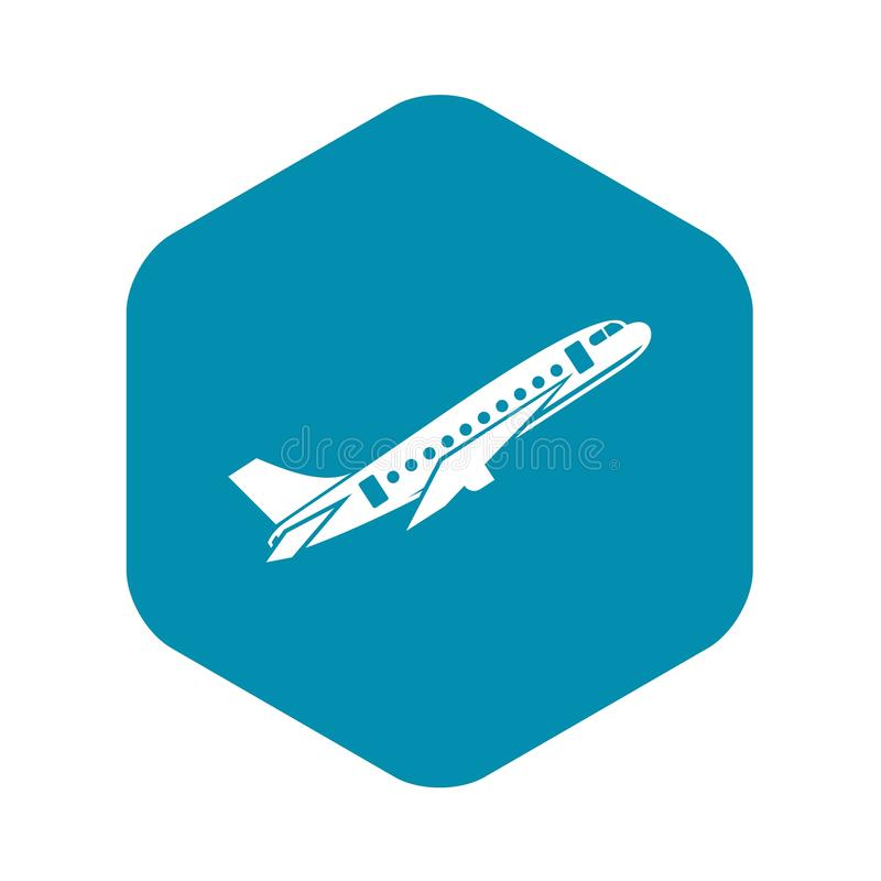 Samolot ikona, prosty styl ilustracja wektor