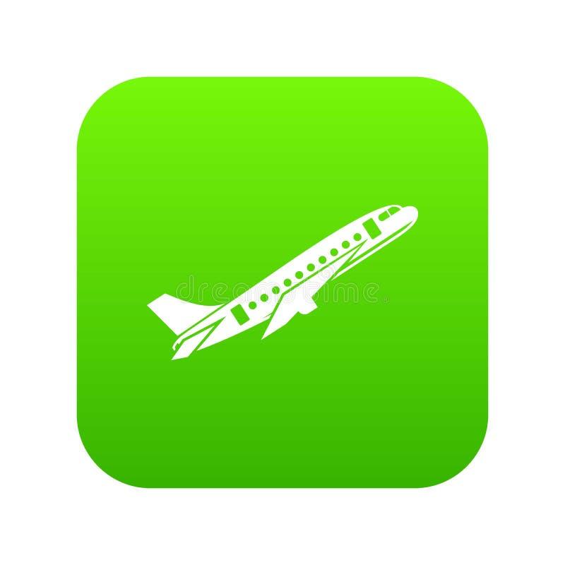Samolot ikony cyfrowa zieleń royalty ilustracja