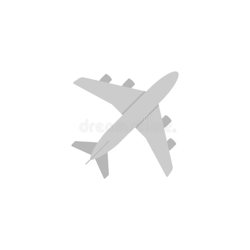 Samolot ikony Płaski wektor, symbol lub logo, royalty ilustracja