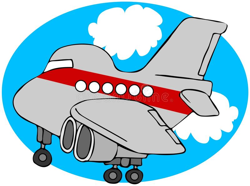 samolot kreskówka ilustracji