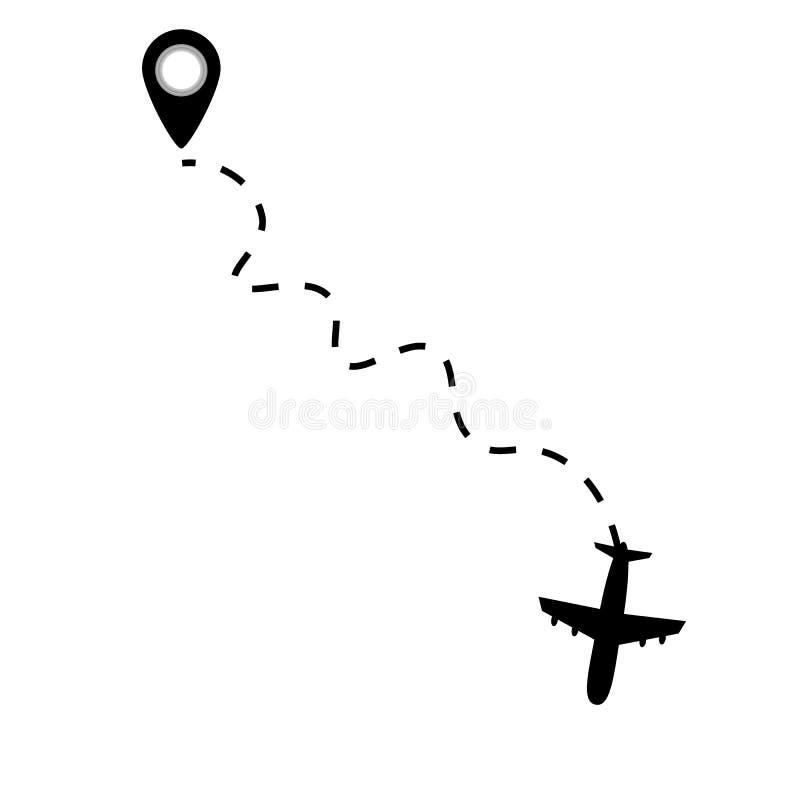 Samolot kreskowa ścieżka ilustracji