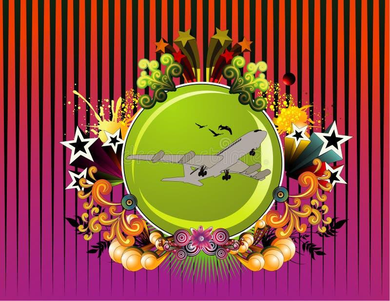 samolot kwiecisty wektora royalty ilustracja